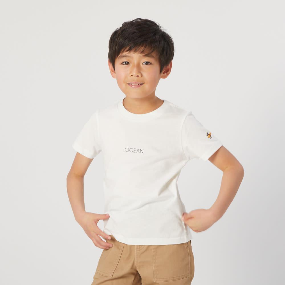 ディノス オンラインショップOP(オーシャンパシフィック)/ワンポイントロゴデザイン キッズTシャツ ネイビー 130 【通販】