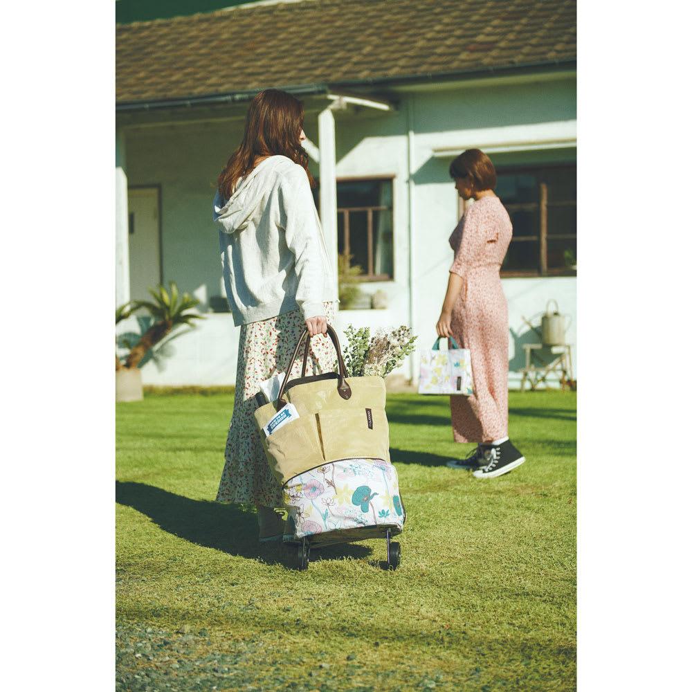 cocoro picnic(ココロ ピクニック)/コクリコ トゥティーバッグ レディース ベージュ/イエロー/グリーン