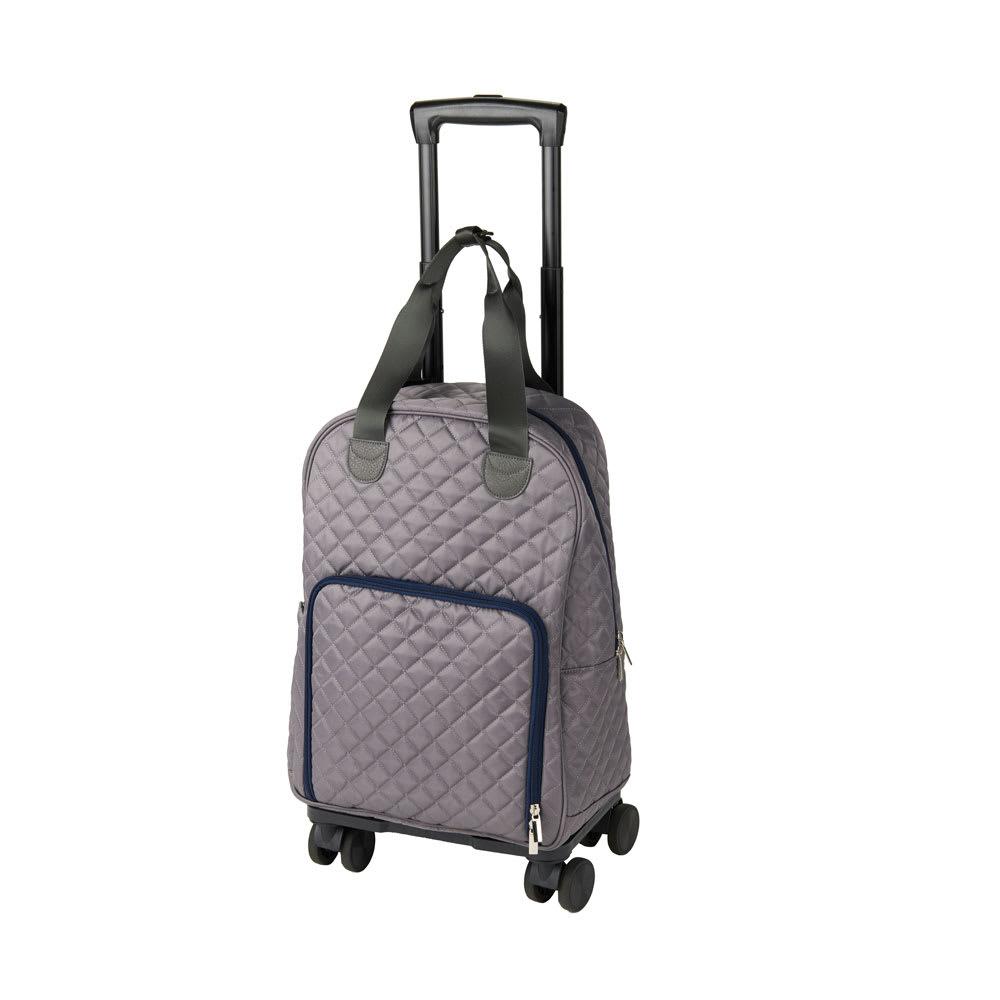 cocoro(コ・コロ)/MARY 4輪キャリーカート グレー/ブラック スーツケース(ソフトタイプ)