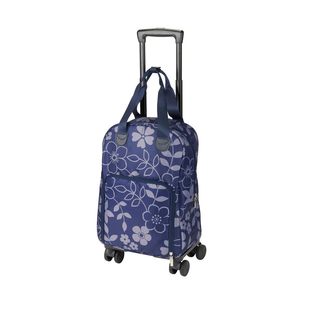 cocoro(コ・コロ)/FLOWER 4輪キャリーカート  ネイビー/ブラック スーツケース・キャリーバッグ