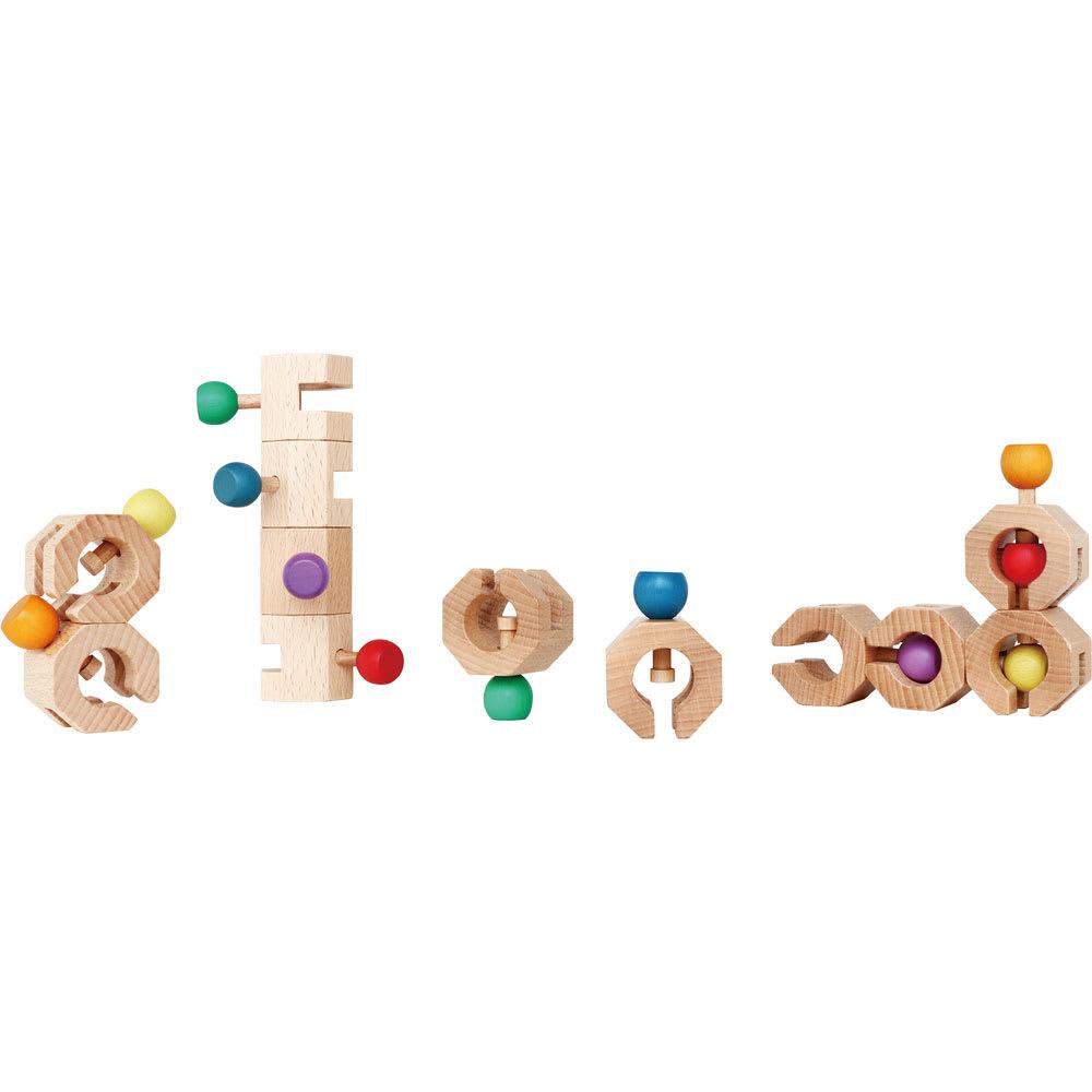 Ed・Inter(エド・インター)/Connectable Chain Cobit -12pieces- 木のおもちゃ