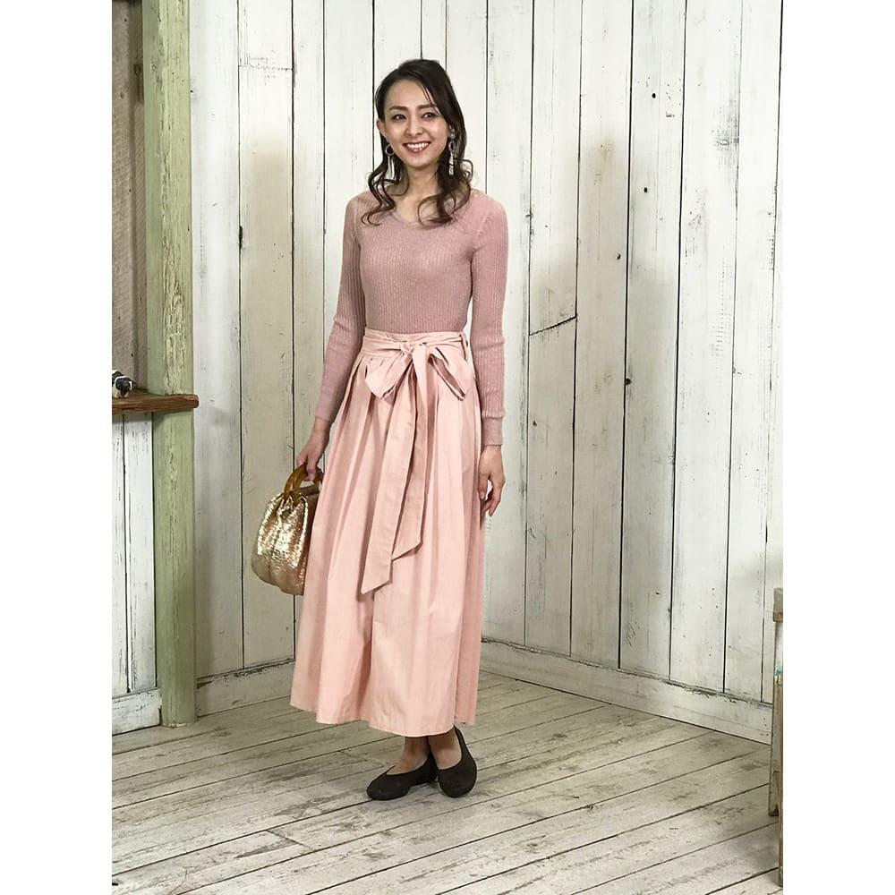 ARCOPEDICO/アルコペディコ バレエシューズ (カ)ブラウン(WEB限定)…ピンク系のフェミニンなファッションに合わせてコーディネート。大人可愛い印象に見せます。落ち着いた色合いなので、パンツにもスカートにも合わせやすい。