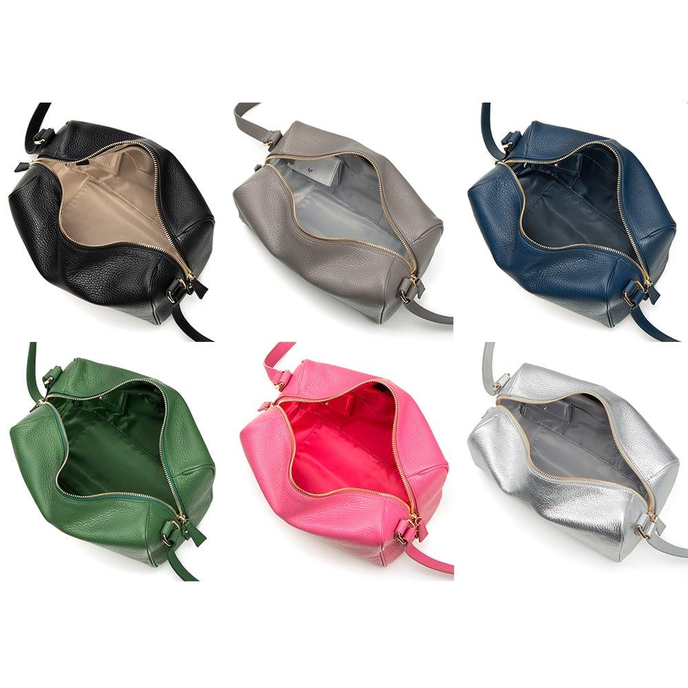 千秋プロデュース 12ポケットバッグ 《左上から》 ブラック/トープ/NEWネイビー/グリーン/NEWピンク/シルバー