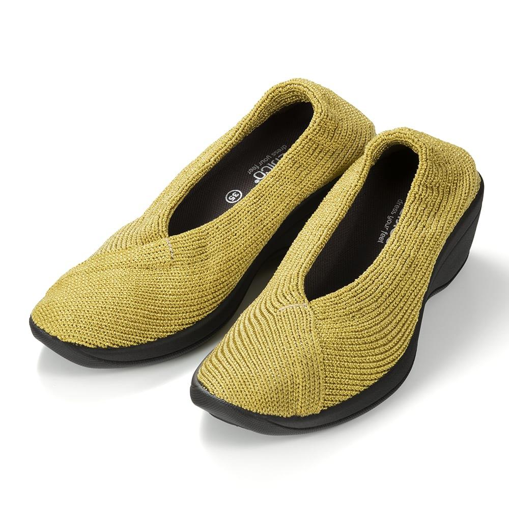 ARCOPEDICO/アルコペディコ ニットパンプス(マイル) (エ)マスタード…明るいマスタードは装いのアクセントにおすすめ!夏の足元が一気に華やかに。