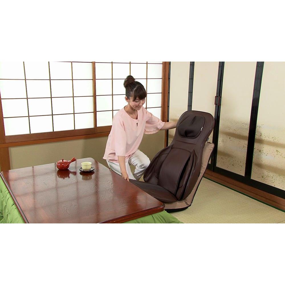 3Dメディカルシート ペルソナ お気に入りの座椅子でくつろぎながら。