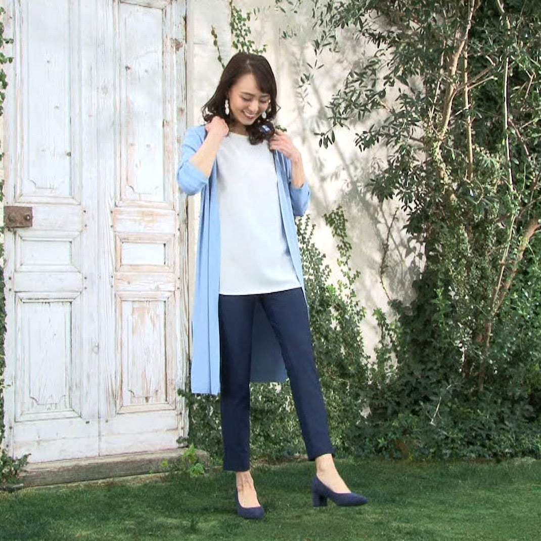 ARIKI 大人フィットパンツ ○裾幅があるから 足首が細く見え、脚全体もスッキリ見せます。