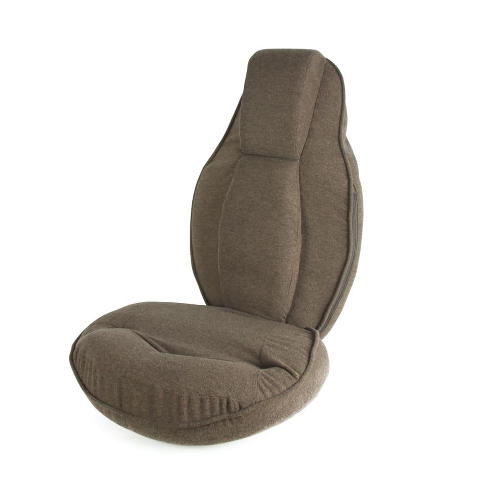 スリム座椅子 ピラトレ (ア) ブラウン 落ち着きを与えます
