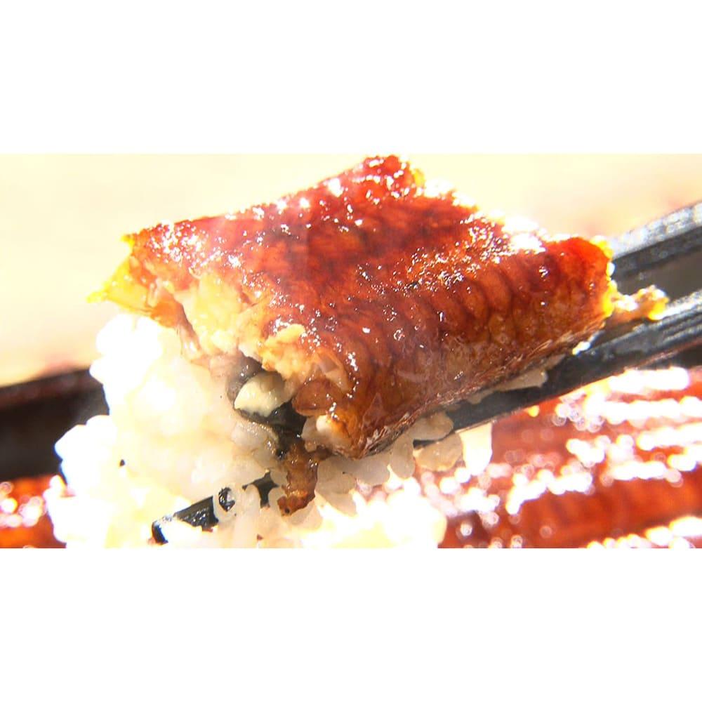 愛知・三河産特選うなぎセット (190g以上×3尾) 【通常お届け】 脂が固まらず肉の中にまぶされた牛肉で言う「霜降り」。脂がクドくなくとろけるような食感です。