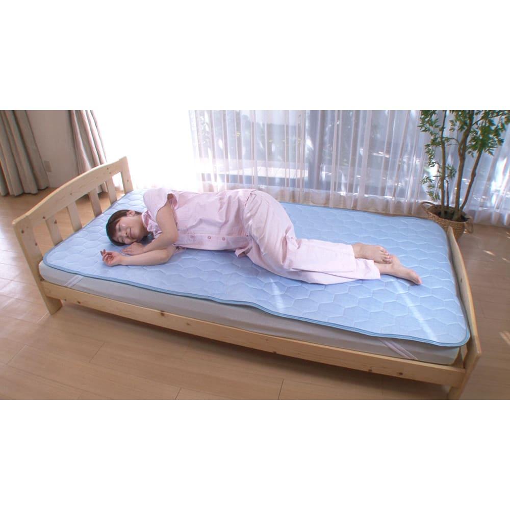 ひんやり除湿寝具 デオアイス 敷きパッドNEO(シングル) 寝返りする度にひんやり感が復活してくれます!
