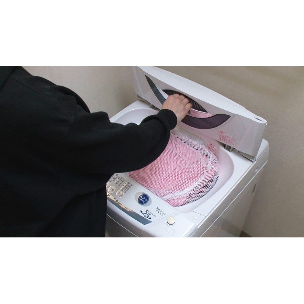ひんやり除湿寝具 デオアイス 敷きパッドNEO(シングル) 家庭の洗濯機で丸洗い可能。洗っても乾きやすいから、いつも清潔に使えます。