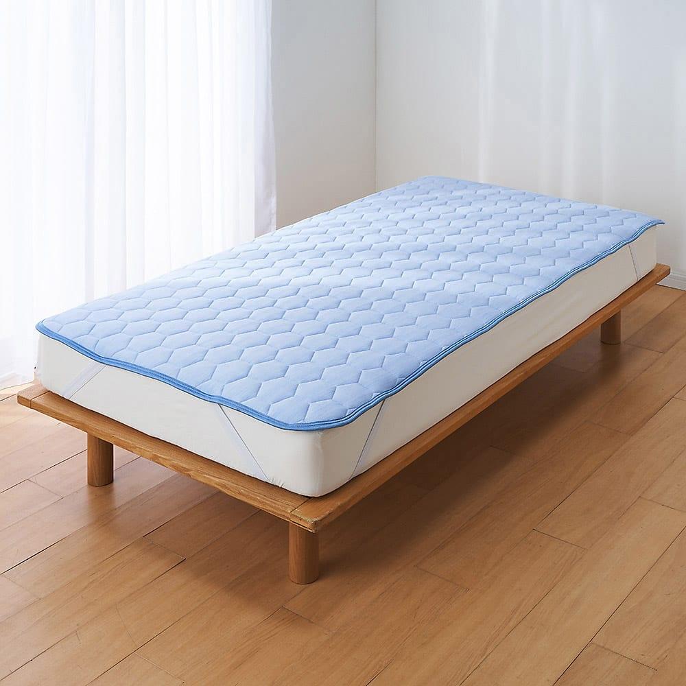 ひんやり除湿寝具 デオアイス 敷きパッドNEO(セミダブル) (ア)ブルー