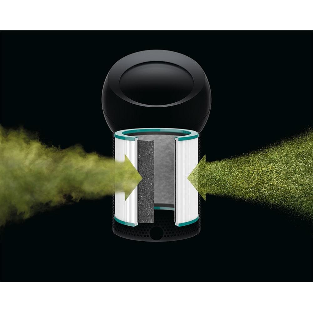 dyson/ダイソン ピュアクールミー 空気清浄機能付き扇風機 BP01 ダイソン独自の360°高密度フィルターを搭載。カビやPM0.1レベルの微粒子まで除去します。(※イメージ)