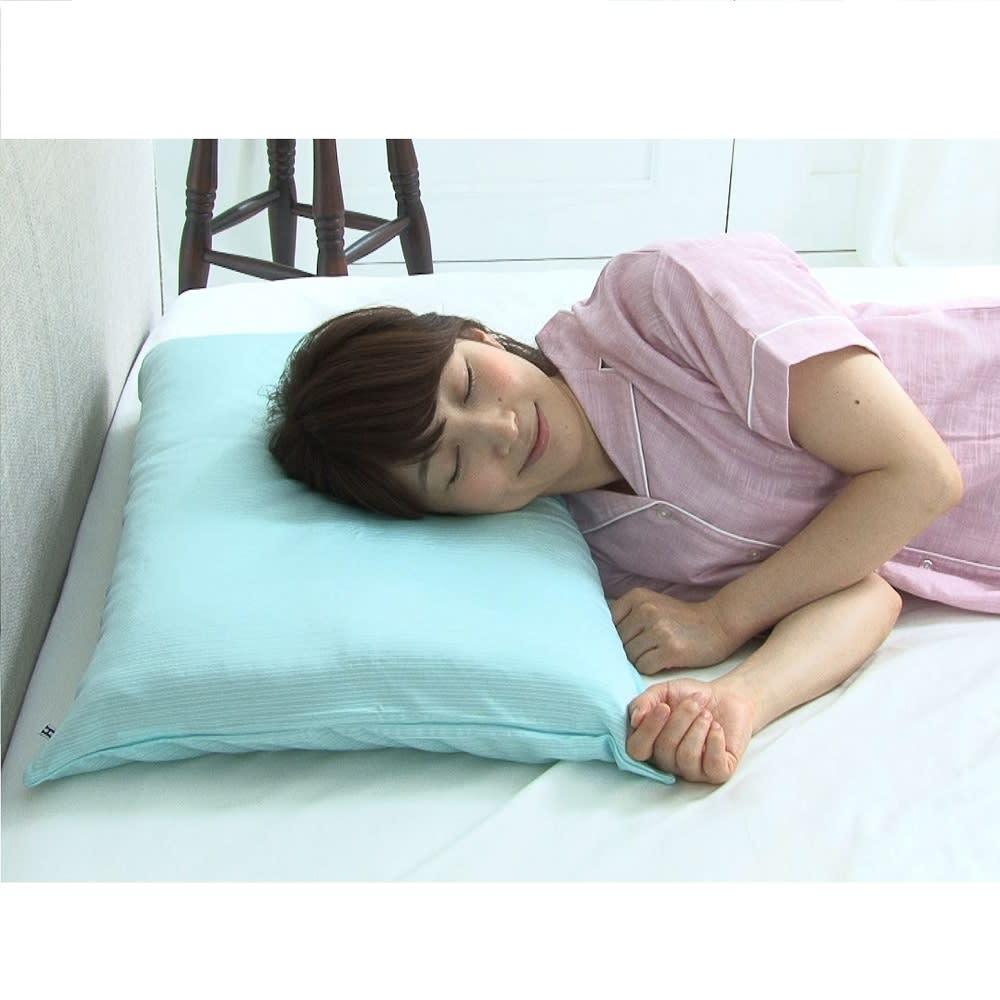 リラックスフィット枕 専用冷感カバー 暑い時期にひんやり気持ちいい♪