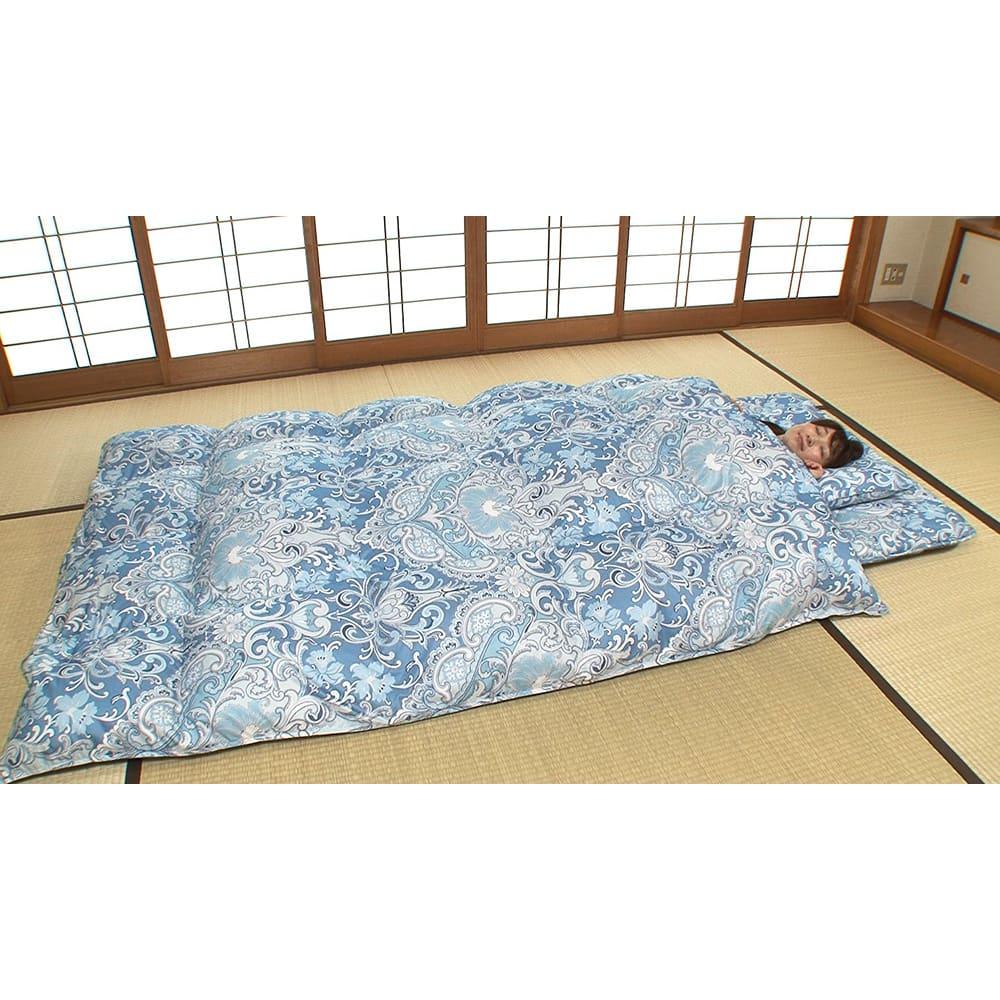 西川 夏のバーゲン寝具セット(シングル6点)・通常お届け (イ)ブルー