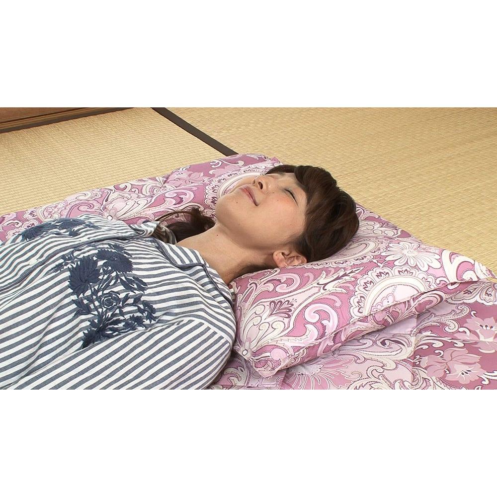 西川 夏のバーゲン寝具セット(シングル6点)・通常お届け 今回のセットの為に特別に作った枕!