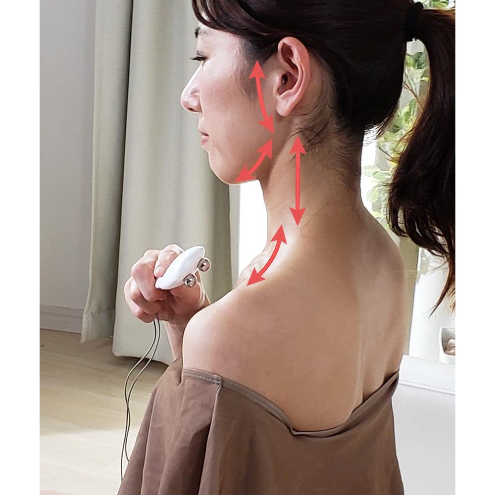 シェイプビート7 Body&Face 【フェイス+α】○一番気になる目の下のゆるみや頬、口元に加え、あご、顎関節周辺、首やデコルテのケアまで可能。サロンと違って気を遣わずに自分の気になる細部を集中ケアできます。フェイスモードの使用時間は1日30分以内が目安です