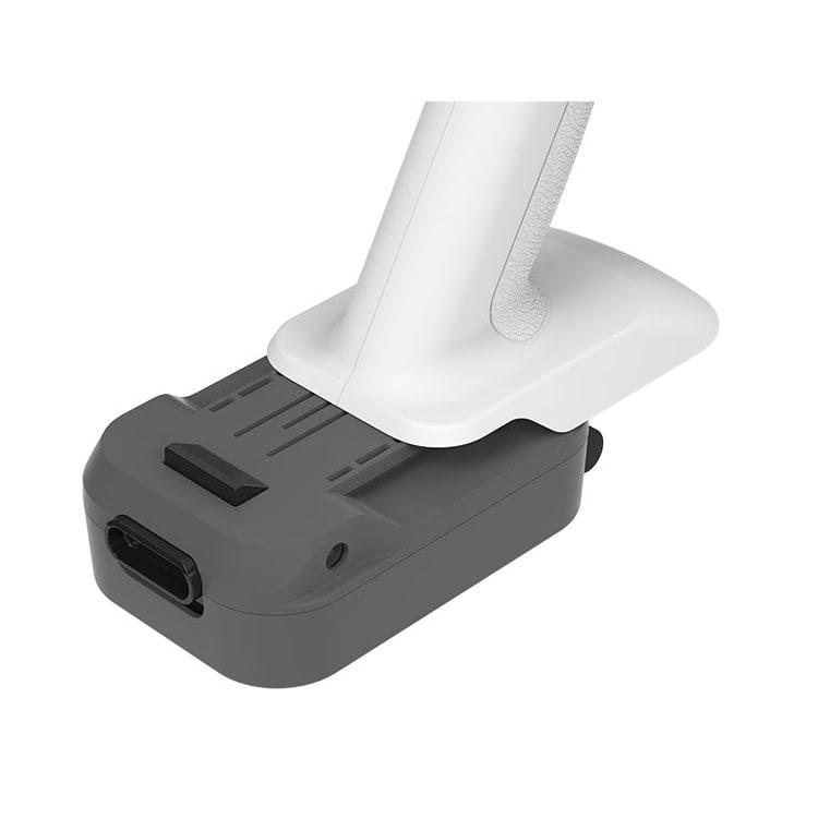 レイコップ コードレスクリーナー 通販限定モデル RHC-500JPWH 約3時間充電で、最大約30分連続して使える着脱式バッテリーを2個付属。合計で約60分もお掃除できます。