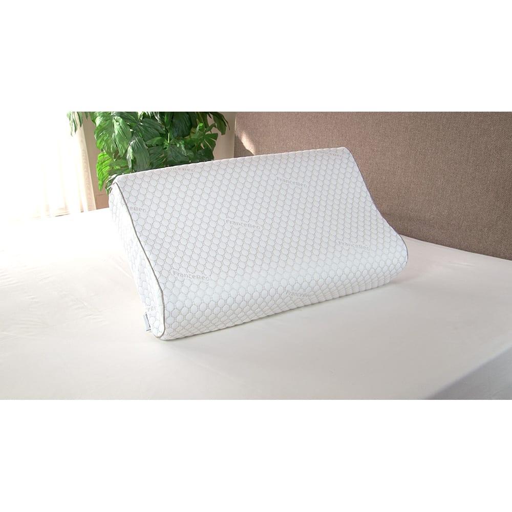 フランスベッド マカロンピロー プレミアム 専用枕カバー 柔らかいのに、沈み込み過ぎず、首をしっかり支える大人気枕「マカロンピロー」の、専用枕カバー。※枕本体は付属しません。
