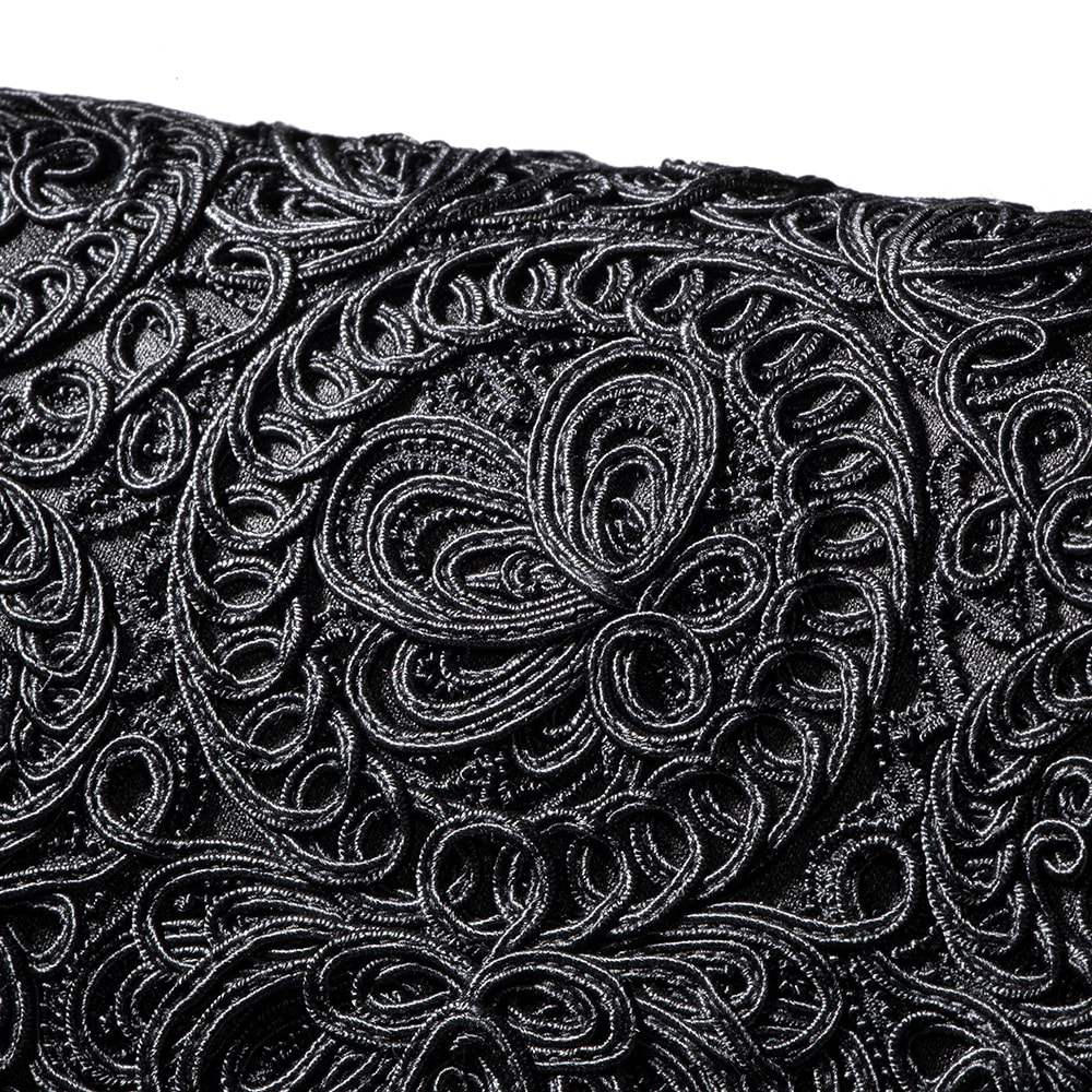 岩佐 コード刺しゅうフォーマルソフトバッグ かぶせ部分に立体感なコード刺繍をたっぷりあしらいました。品格のある美しいデザインです。