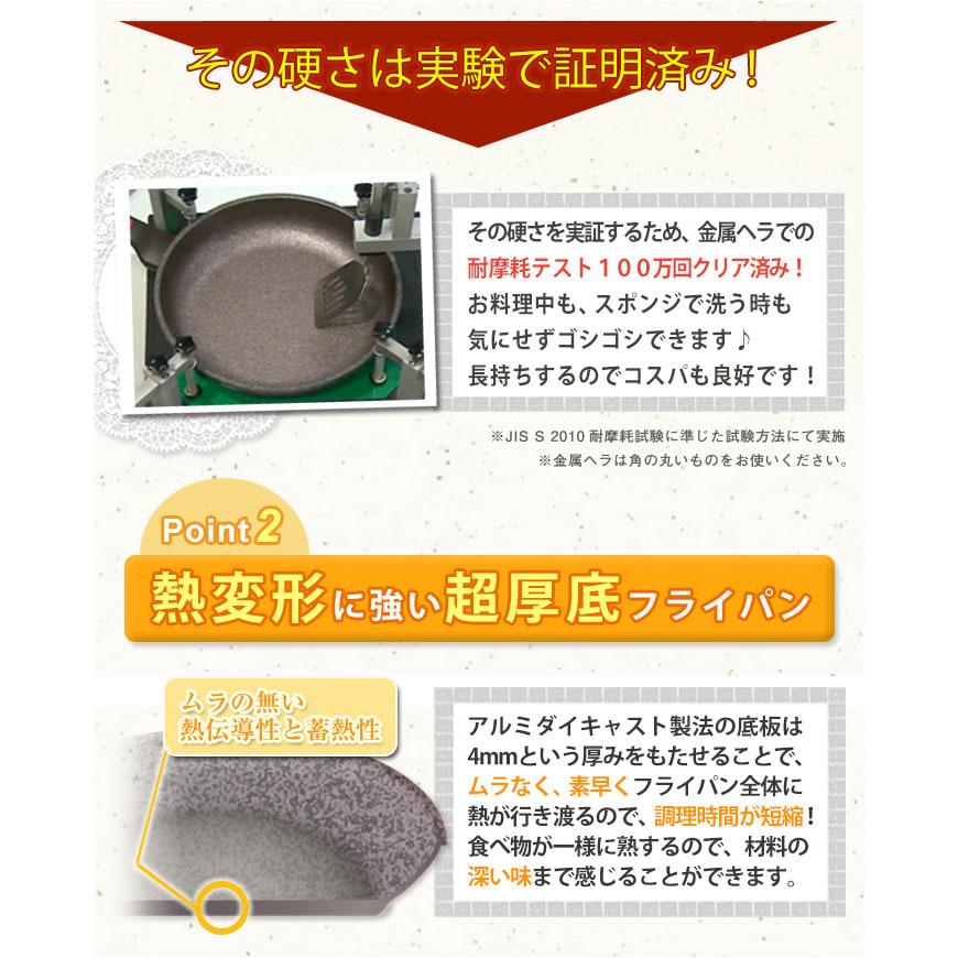 スーパーストーンバリアフライパン(28cm深型)&ふた