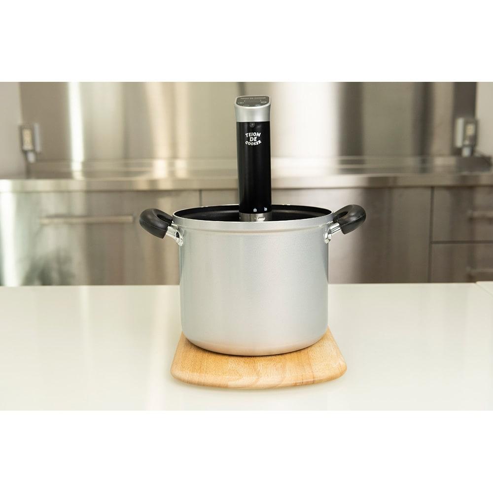 低温DEクッカー お手持ちのお鍋に商品をセット