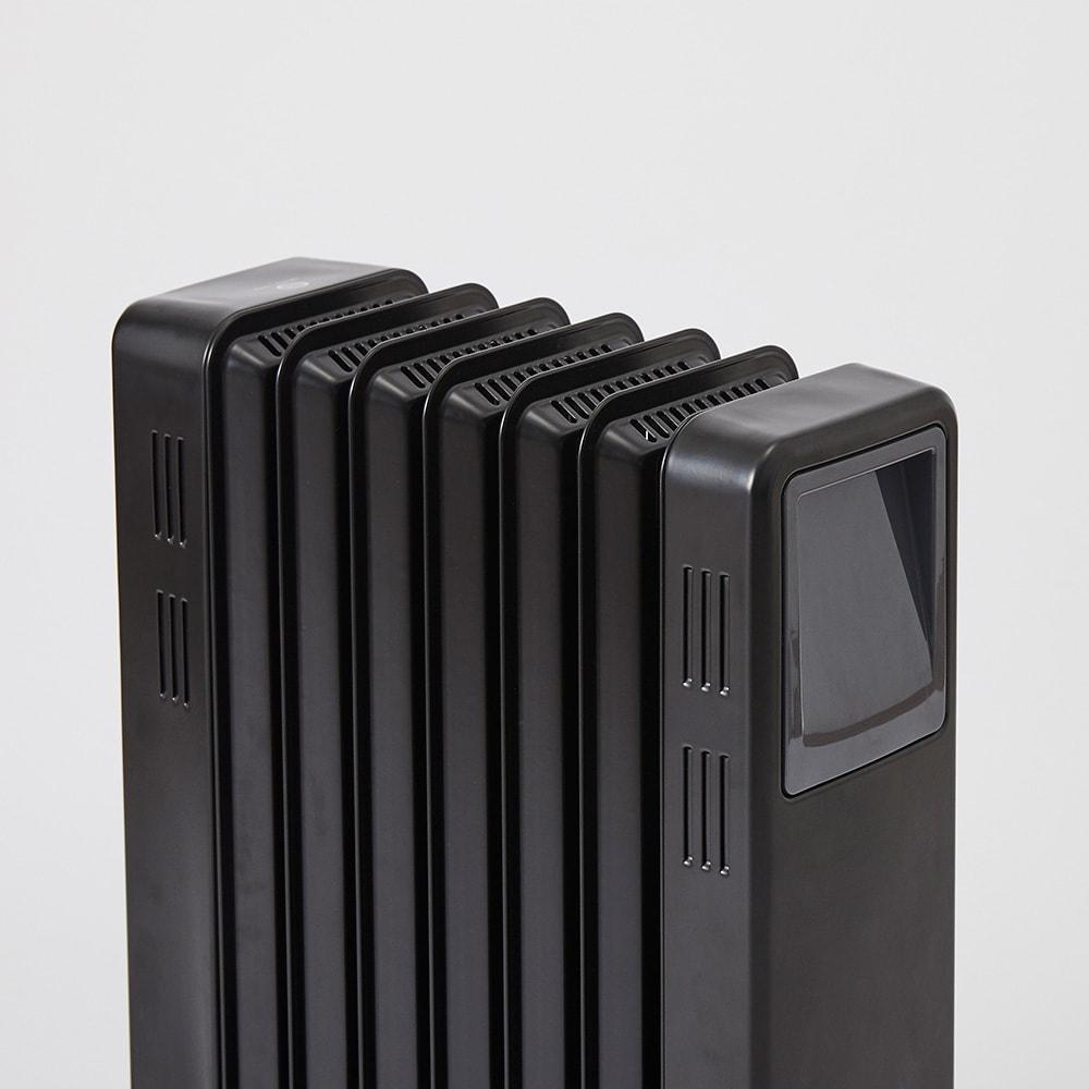 Dimplex/ディンプレックス オイルフリーヒーター B04(タッチパネル式) 火傷の心配が少なく安心。パネルの断面が入り組んでいて、空気に触れる面が多いため、本体自体の温度はそこまで上がりません。※定常時平均表面温度約60度