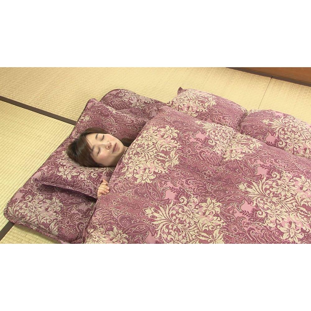 新春初売り 西川の特選寝具 シングルセット(6点+特典2点付き) さすが「西川」の羽毛布団。入った瞬間からポカポカです。