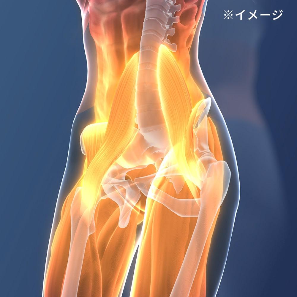 スリム座椅子 ピラトレ 大腰筋などの、インナーマッスルも楽に鍛えられます。筋肉がつけば、美姿勢を普段からキープしやすく!