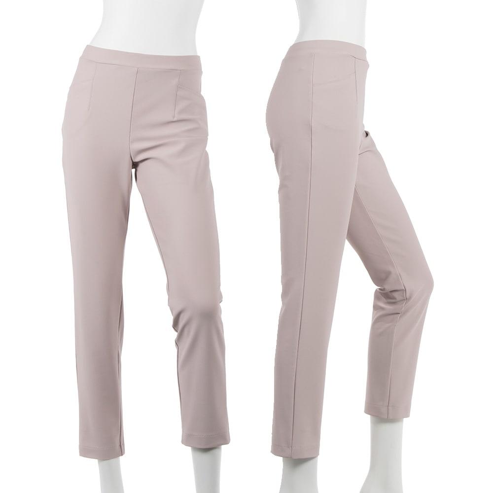 ARIKI 大人フィットパンツ (イ)スモーキーピンク…大人の女性がはける 可愛すぎない上品なピンクです。スモーキーな色味だから 意外と合わせやすく、差し色としても便利♪