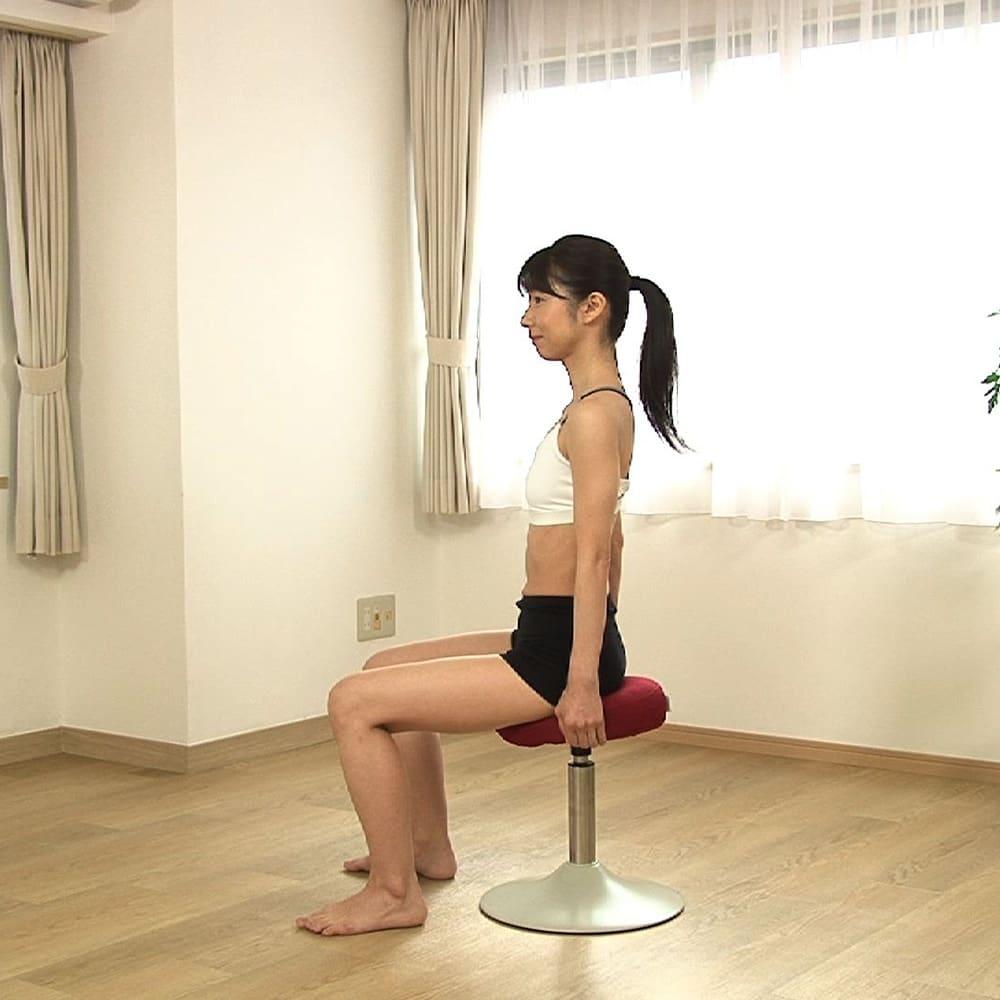 MIZUNO/ミズノ スクワットスリールα(アルファ) 【座り方】○座面の傾斜が高い方をお尻に来るようにして座ります。※ミズノのロゴタグが後ろに来るようにしてください。