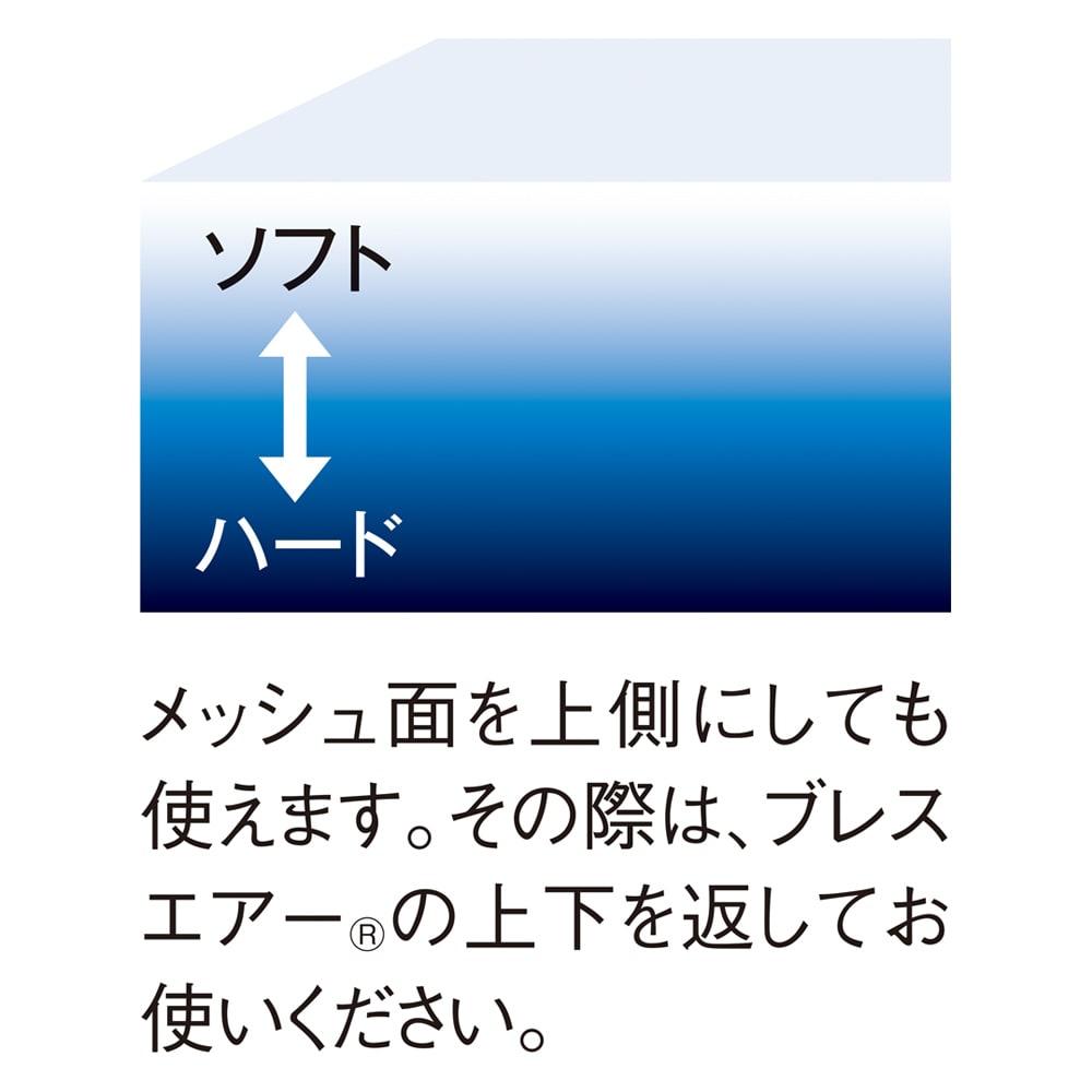 ブレスエアー(R)敷布団NEO(セミダブル) 上層から下層にいくほど硬さが増していく「硬さグラデーション」ソフトとハードの境目がなく快適な寝心地