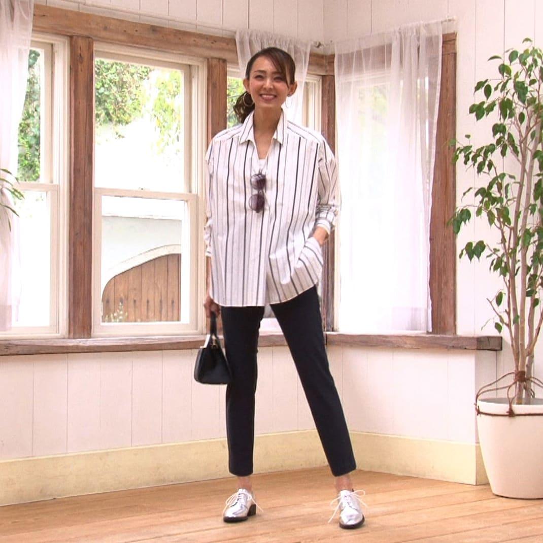 ARIKI 大人フィットパンツ (ア) チャコールブラック ひざ下ストレートで 裾幅があるから 相対的に足首が細く見え、脚全体がスッキリ♪