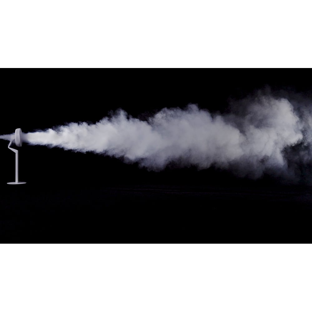 デュクス ブレードファン 気流が乱れないので優しい風が遠くまで届きます。風の最大到達距離16m※メーカー自社試験※最大風量