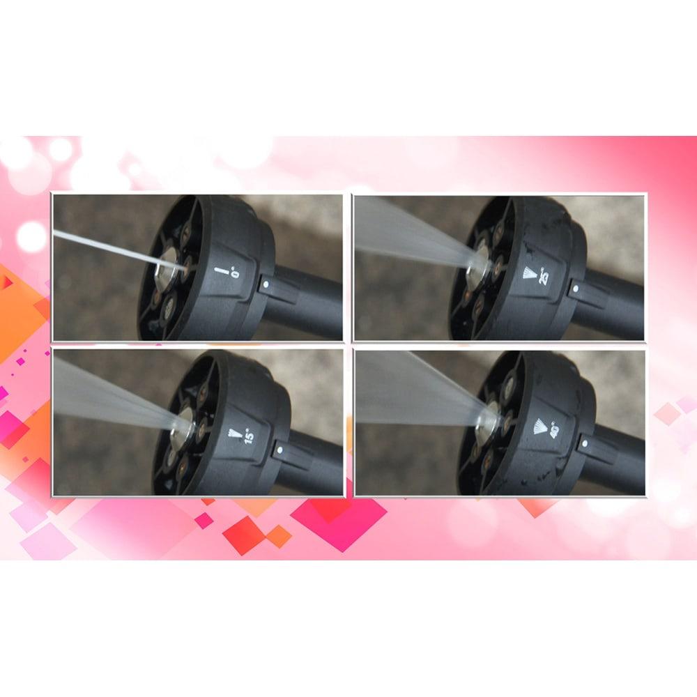 ビューティテック コードレス高圧洗浄機 ◎多機能ノズル…5種類の噴射モード(角度0°/15°/25°/40°/シャワー)が選べ、様々なシーンで使えます。