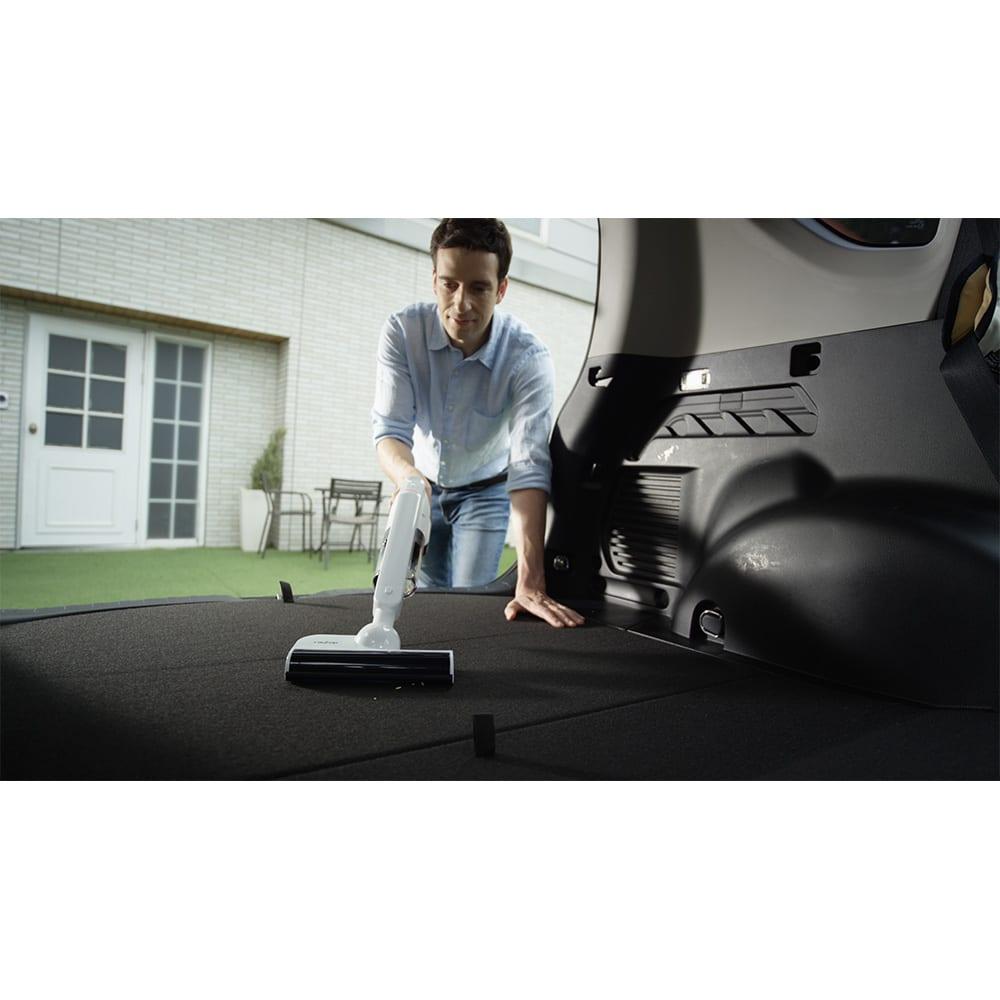 レイコップ コードレスクリーナー 通販限定モデル RHC-500JPWH 車内の細かいゴミの掃除にも便利。
