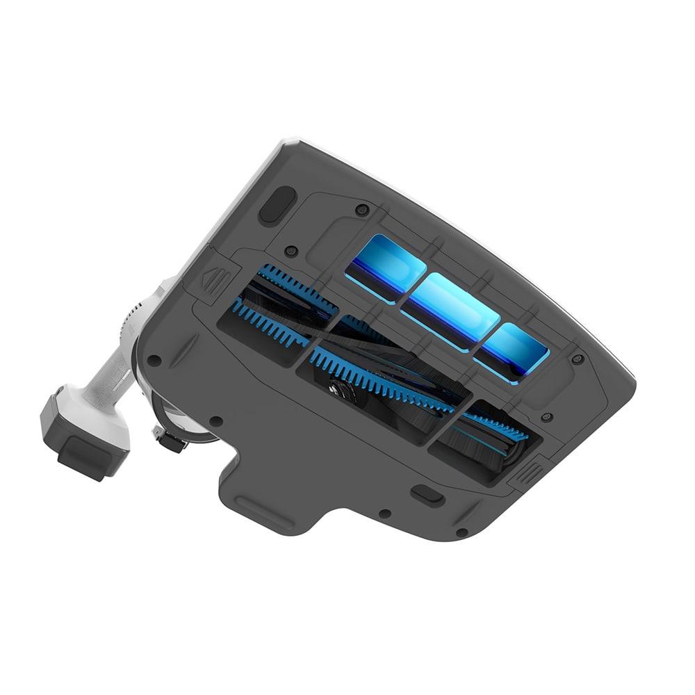 レイコップ コードレスクリーナー 通販限定モデル RHC-500JPWH UVヘッドは、紫外線照射で除菌とウイルス対策が可能。回転ブラシが布団を叩いてパワフルに吸引。<br />※UVヘッドは、布製品以外でのご使用はお控えください(フローリング・畳不可)