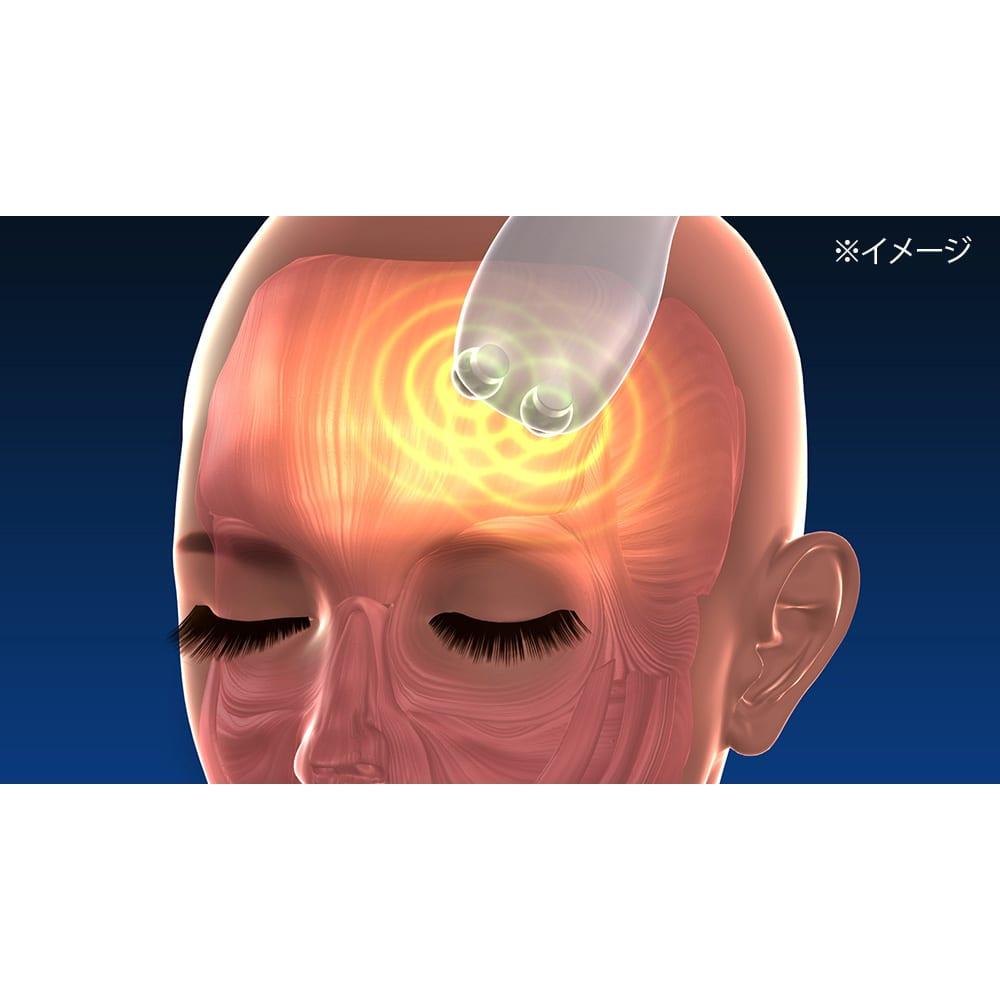 シェイプビート7 Body&Face ○使用例:額から髪の生え際※イメージ おでこの筋肉って意外かもしれませんが、使うとかなりのすっきり感。つながっている頭皮下の筋肉まで同時に刺激。普段あまり刺激されてなかったことを実感できます