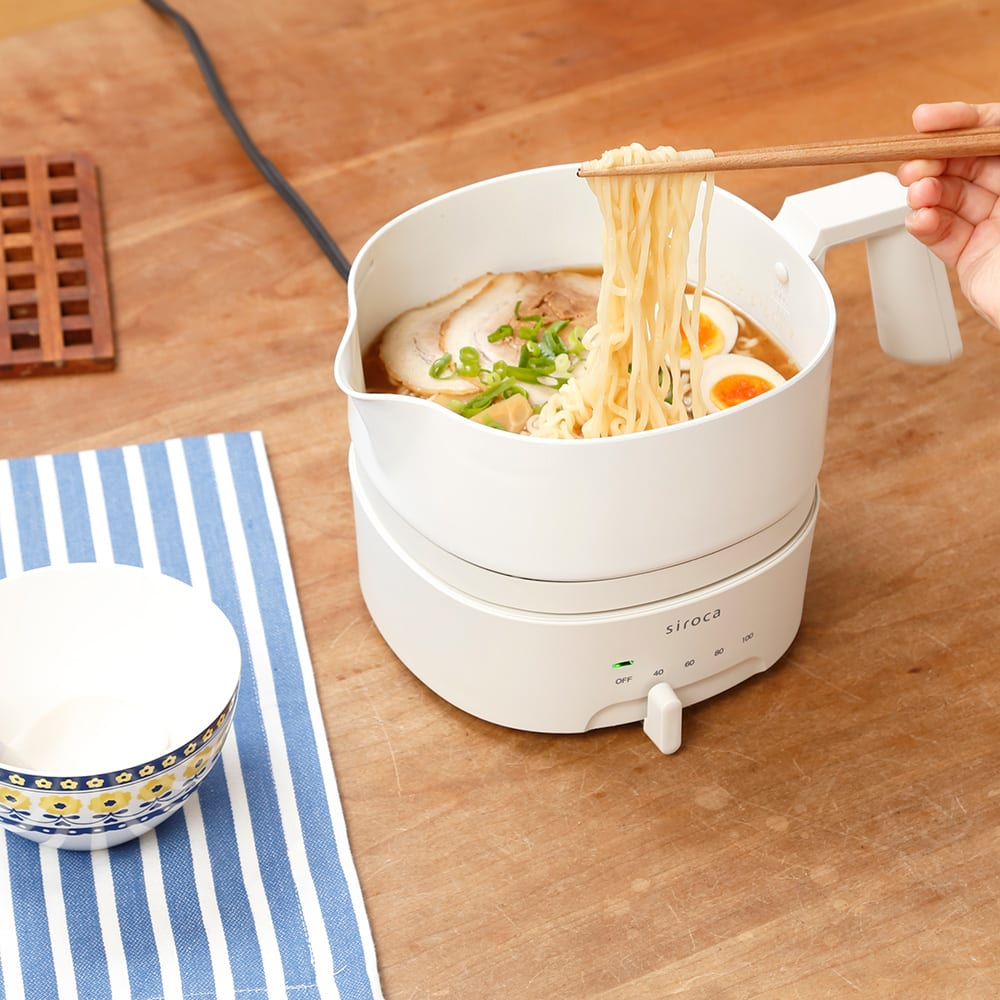 siroca/シロカ おりょうりケトル ちょいなべ SK-M151/SK-M152 お鍋の形状で、いろんな料理までできちゃうんです!