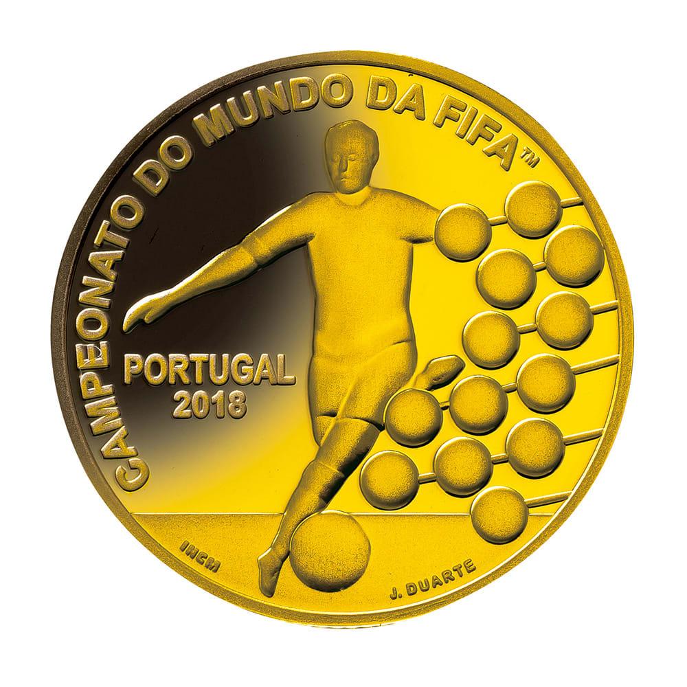 FIFAワールドカップロシア大会公式記念コイン 金貨3種セット ポルトガル2.5ユーロ金貨 裏面