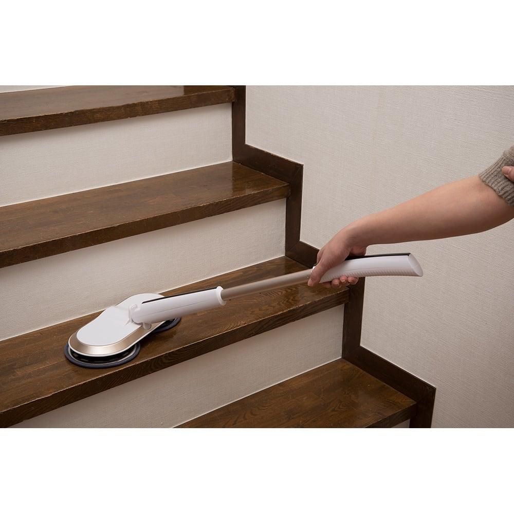 コードレス回転モップクリーナーNeo プレミアムセット(パッド計6枚) 階段の掃除に!