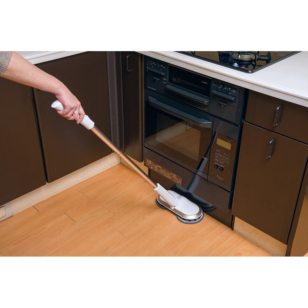 コードレス回転モップクリーナーNeo プレミアムセット(パッド計6枚) キッチンのベトベト汚れに!