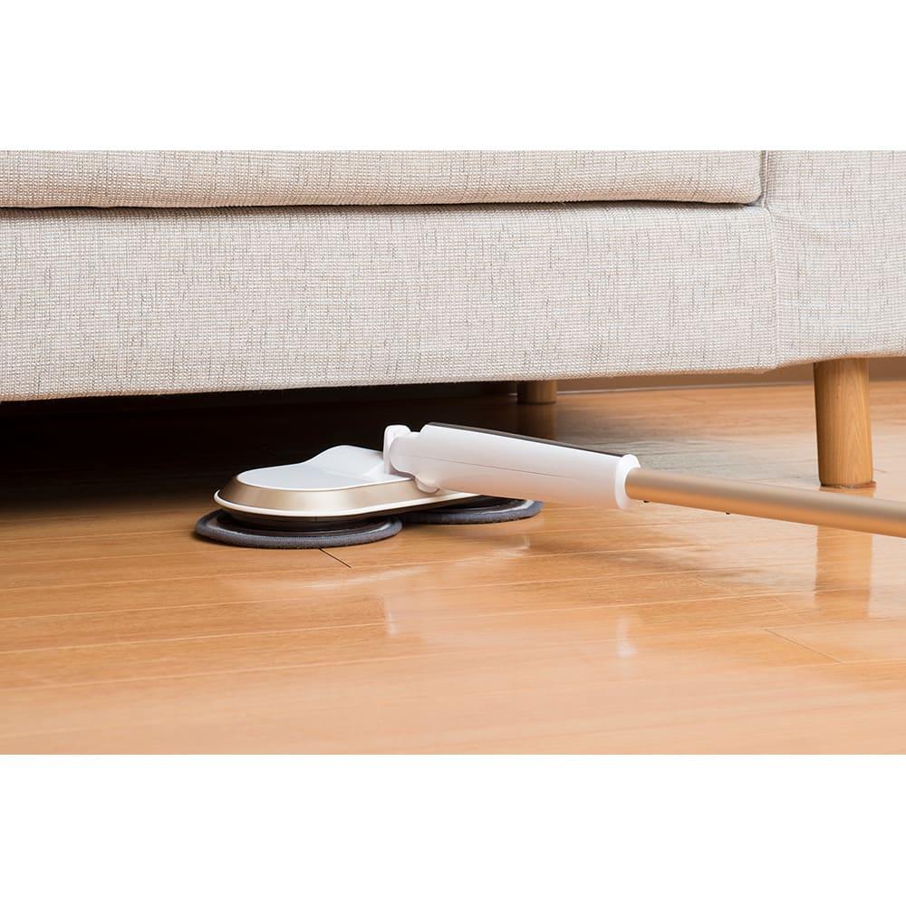 コードレス回転モップクリーナーNeo プレミアムセット(パッド計6枚) ソファやベッド下の掃除に!