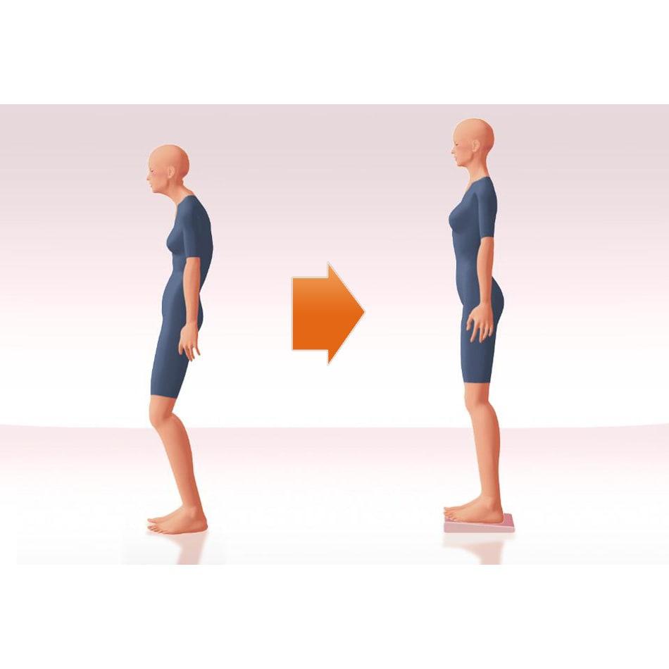 イージートレーナー 立つ…つま先上がりで立つと、ふくらはぎのストレッチに!つま先下がりなら足首や脛のストレッチに。八の字に置くと、体幹を刺激するバランス運動に。