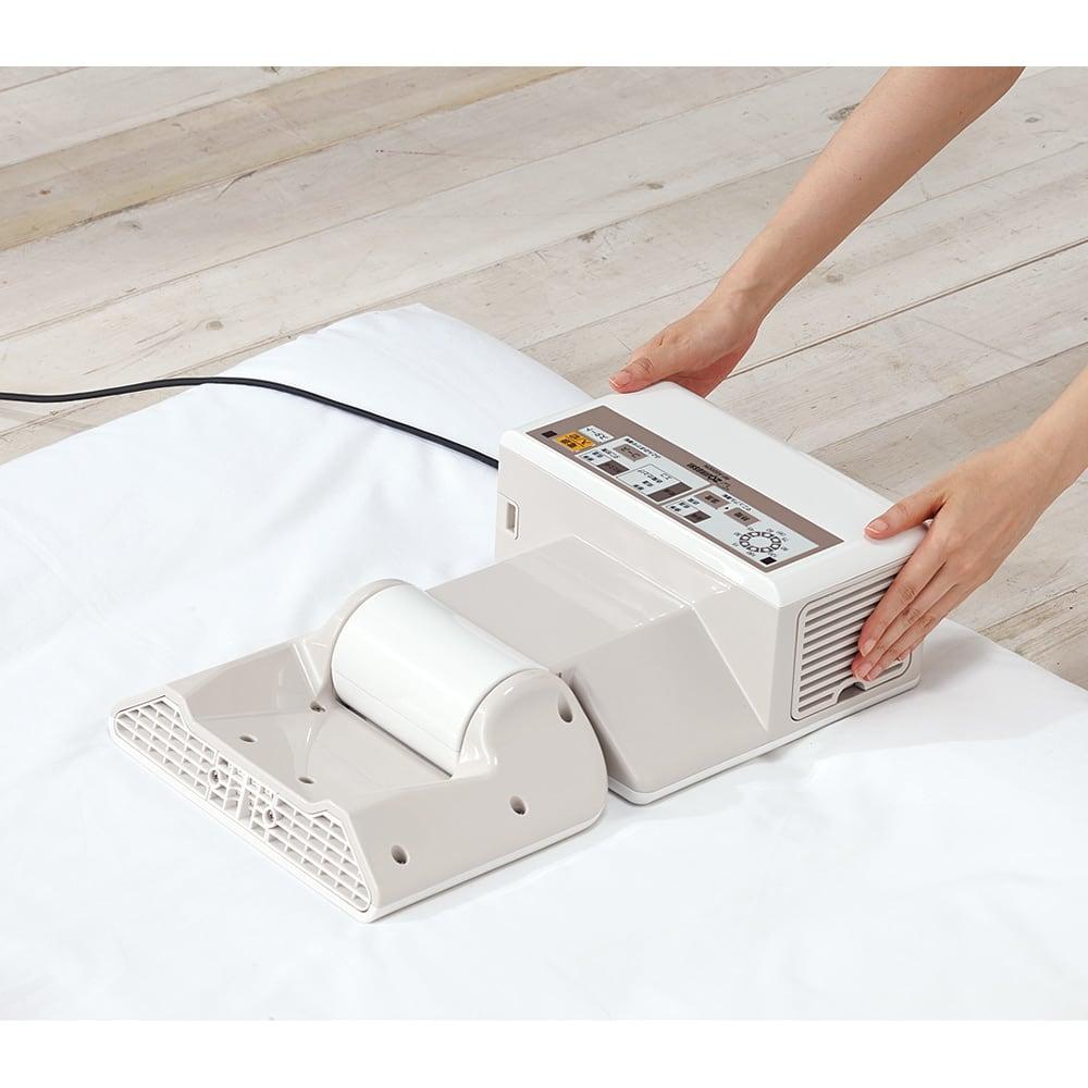 象印 布団乾燥機プレミアム 3ステップでカンタン設置!(1)パッと開いて