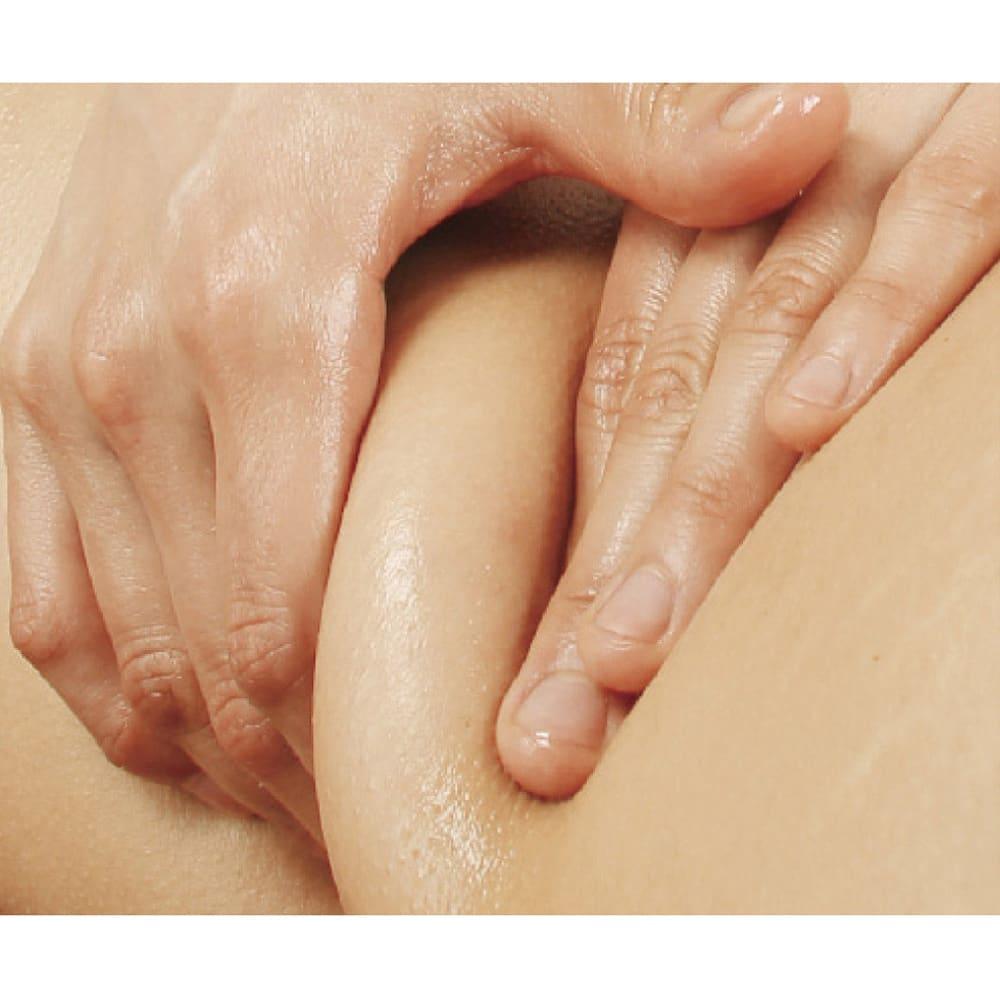 セルスルーエステ 5分袖+ガードルセット(上下同色同サイズ) エステティシャンの手でつままれているような感覚で刺激。 ※イメージ