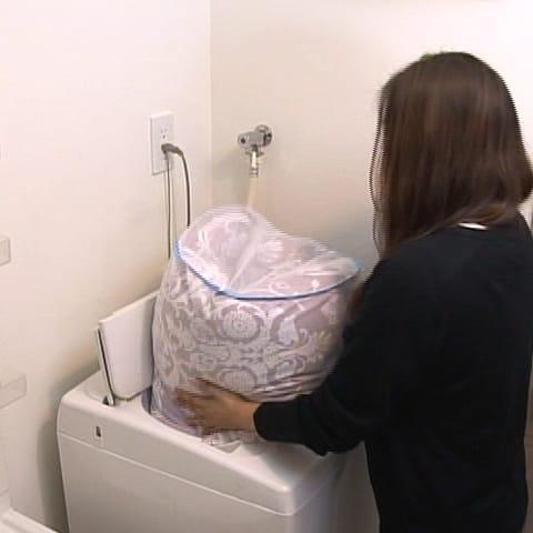 エアリーダウン掛け布団(セミダブル) 自宅で洗える…洗濯機で丸洗い可能(※ネット使用)