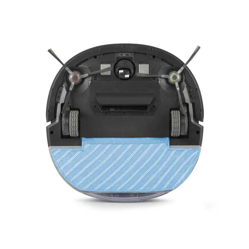 エコバックス ロボット掃除機アクアブレス 前方の回転ブラシでゴミをかき集め吸引。後方のモップパッドで水拭きを行います!