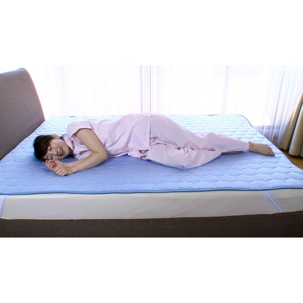 ひんやり除湿寝具 デオアイス 敷きパッドNEO(クイーン)