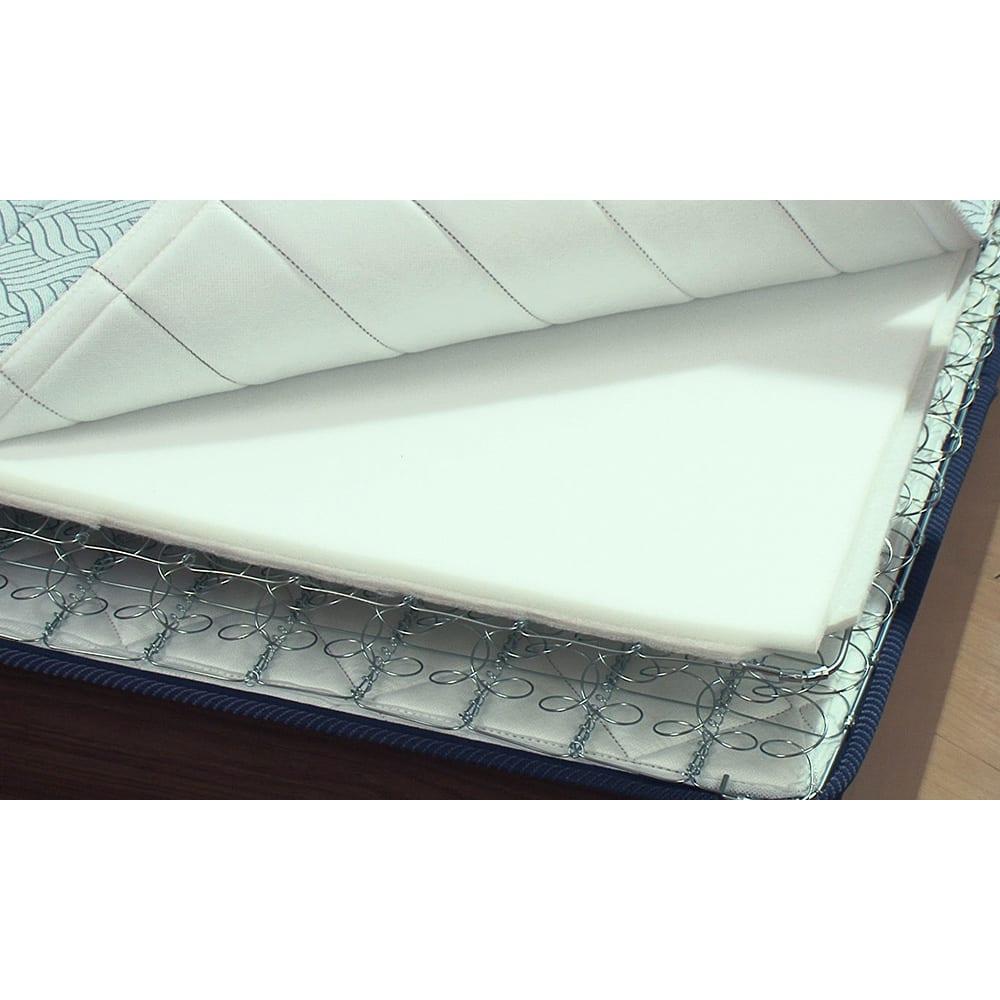 FranceBed/フランスベッド エアリーフォース(シングル) 薄型で、中はスプリングだからほぼ空洞。通気性が良く、汗をかいても蒸れずにサラッと気持ちいい。