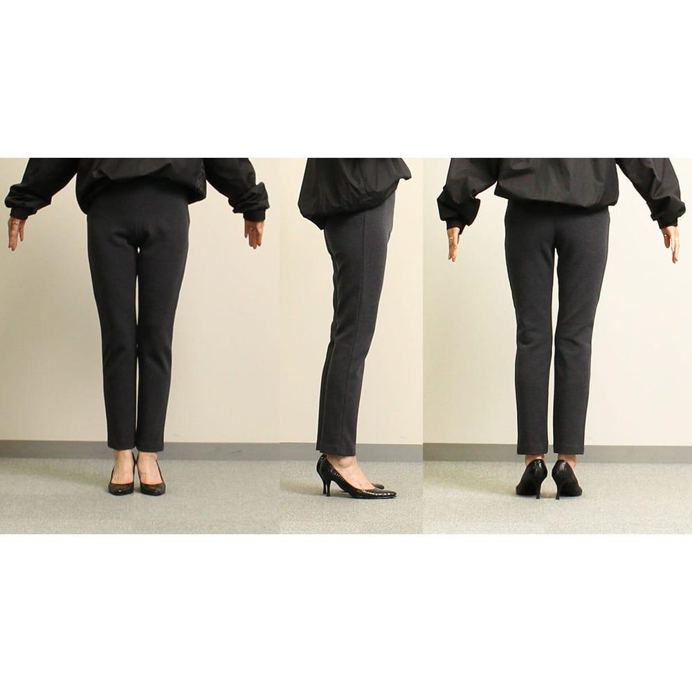 ARIKI あったか大人パンツ 【番組スタッフが実際にはいてみました】身長164cm(着用サイズ:S|普段のボトムスサイズ:XS or S)「柔らかくて穿きやすい!穿いていて気持ちいい!柔らかいのに生地がシッカリしていて、脚のラインを拾わないのがいい。」